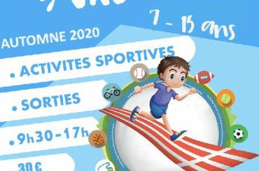 Sport Vacances Automne 2020 – 19 au 30 octobre 2020