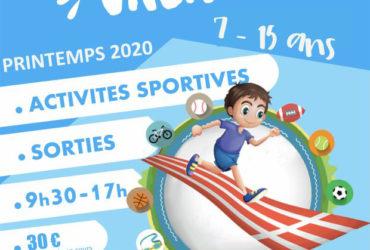 Sport Vacances Printemps 2020 – 14 au 24 avril 2020